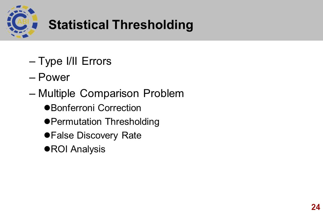 Statistical Thresholding