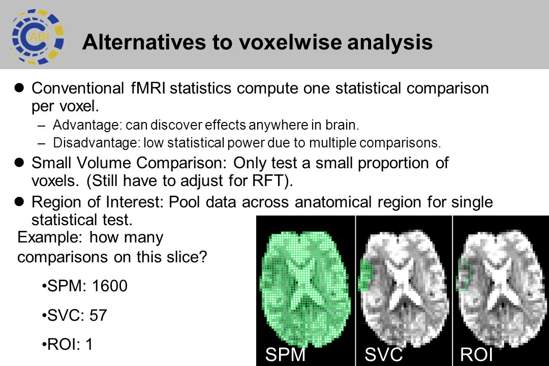 Alternatives to voxelwise analysis