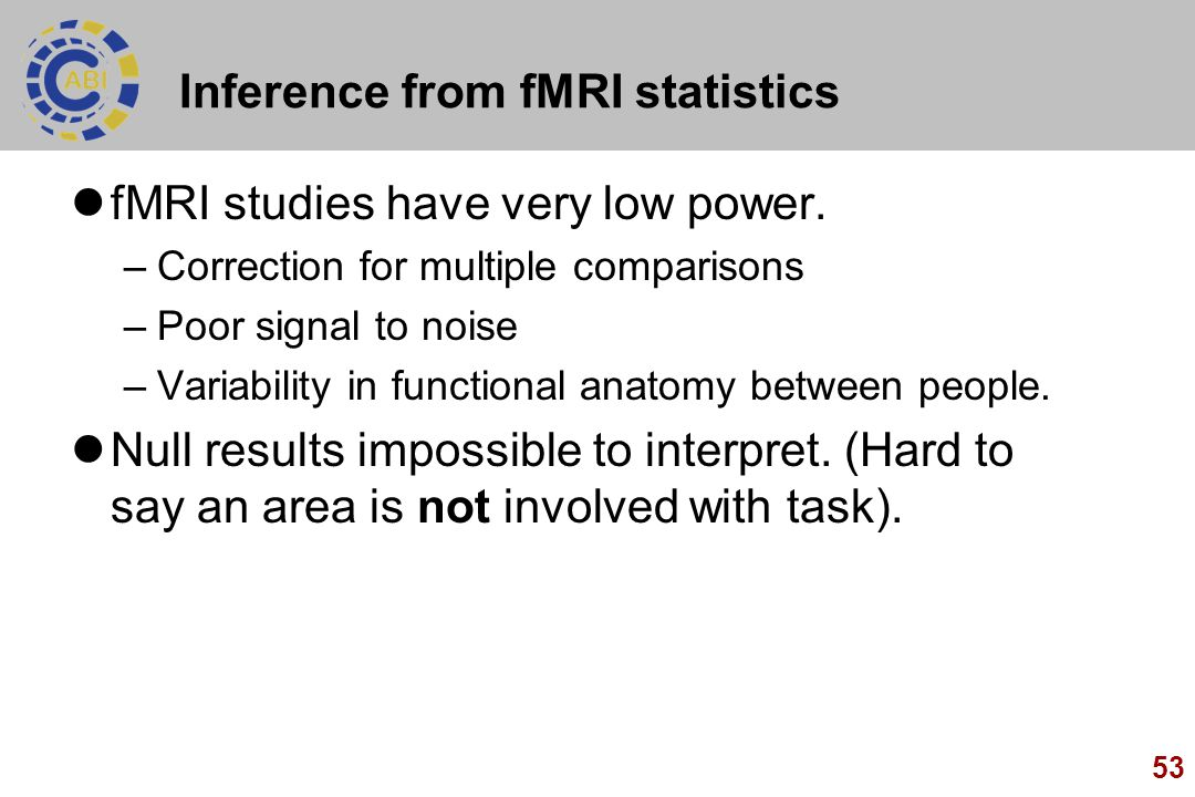 Inference from fMRI statistics