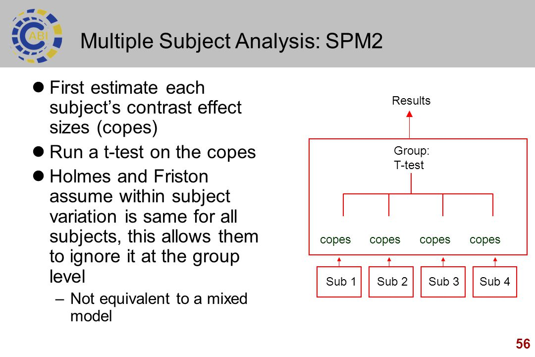 Multiple Subject Analysis: SPM2