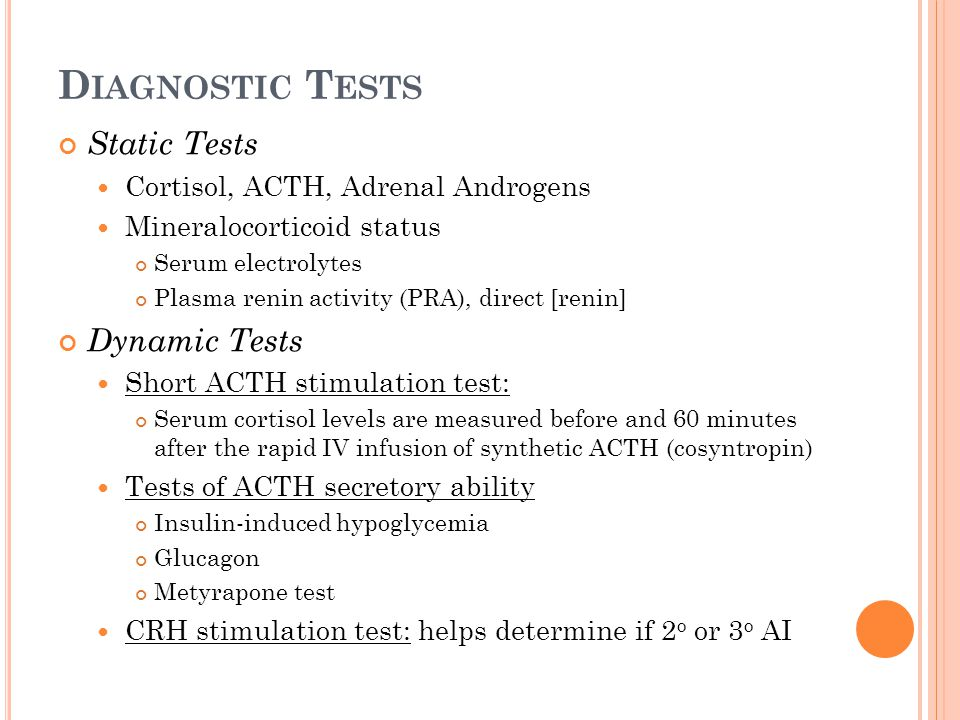 Diagnostic Tests Static Tests Dynamic Tests