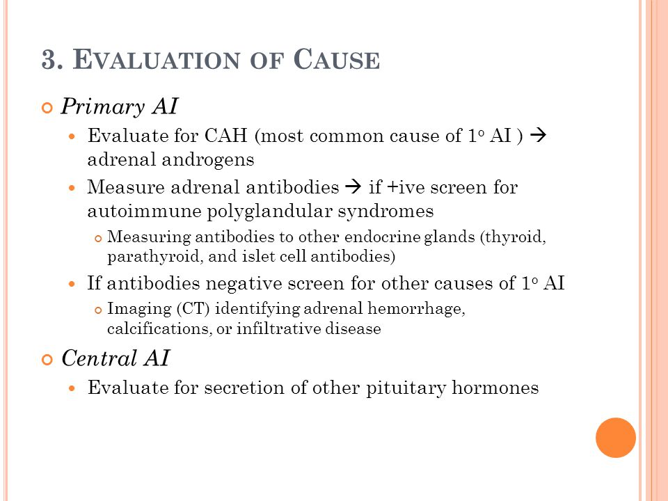 3. Evaluation of Cause Primary AI Central AI