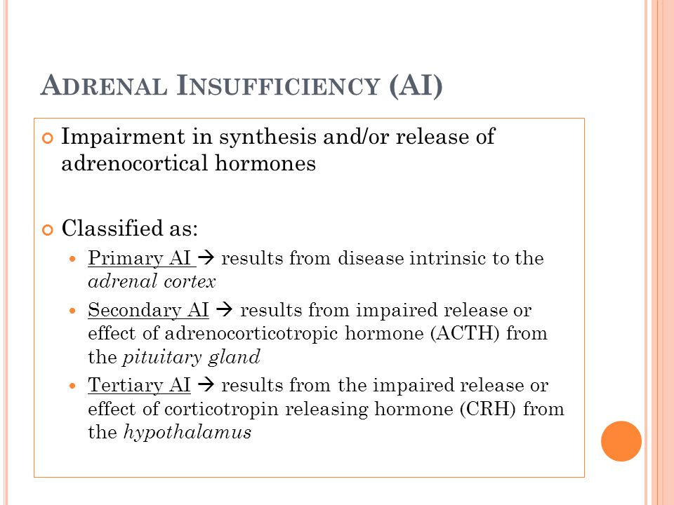 Adrenal Insufficiency (AI)