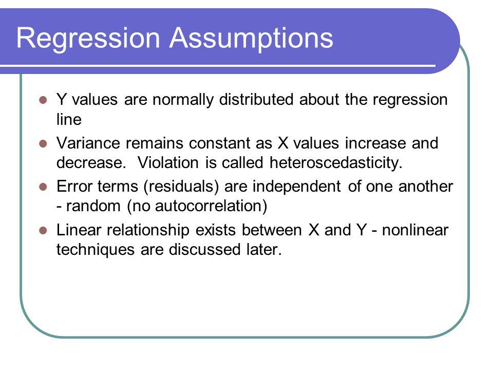 Regression Assumptions