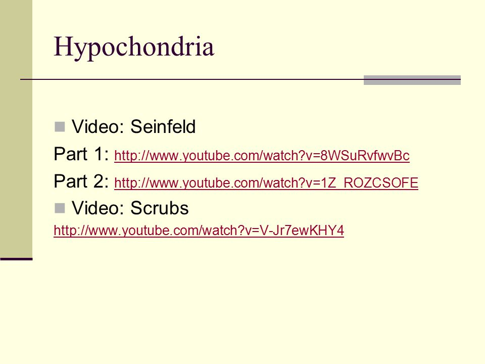 Hypochondria Video: Seinfeld