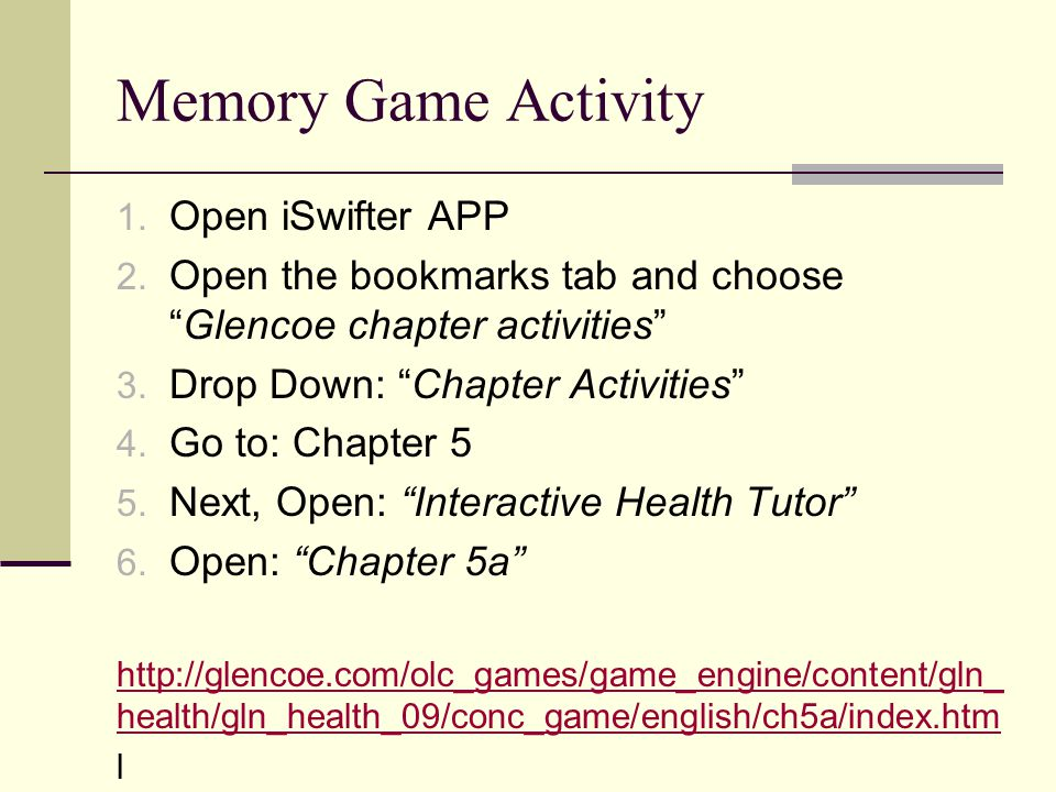 Memory Game Activity Open iSwifter APP