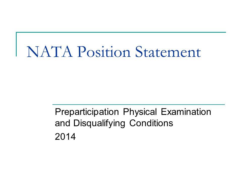 NATA Position Statement