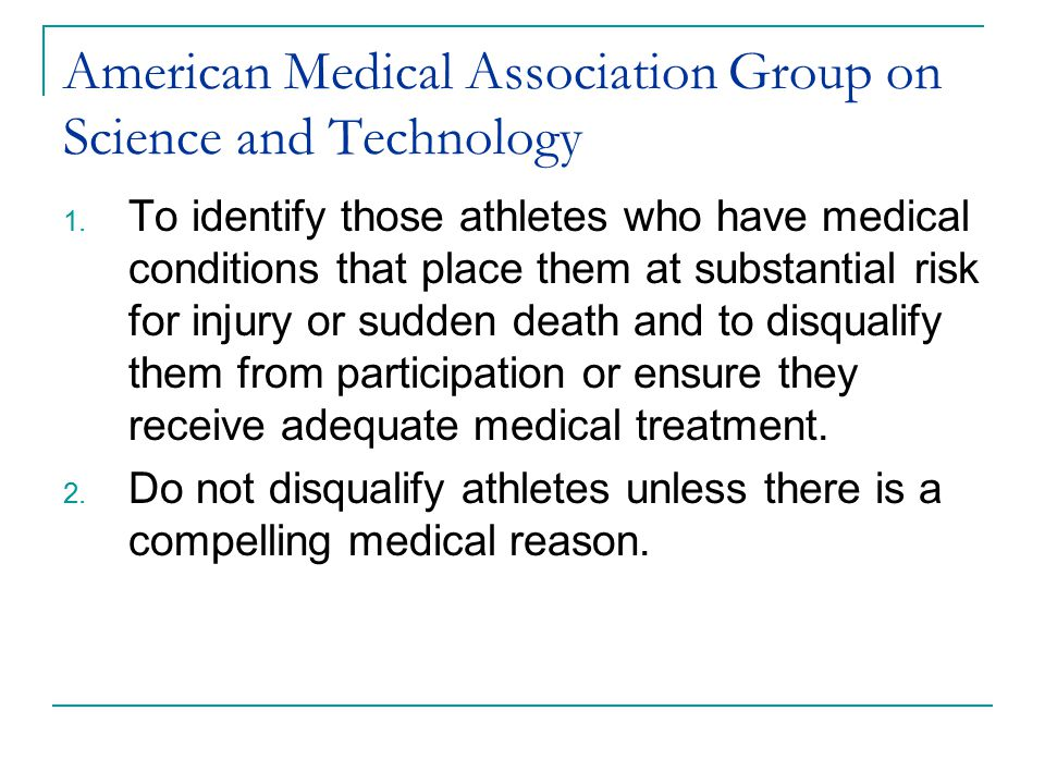 American Medical Association Group on Science and Technology