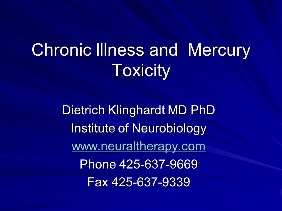 Chronic Illness and Mercury Toxicity
