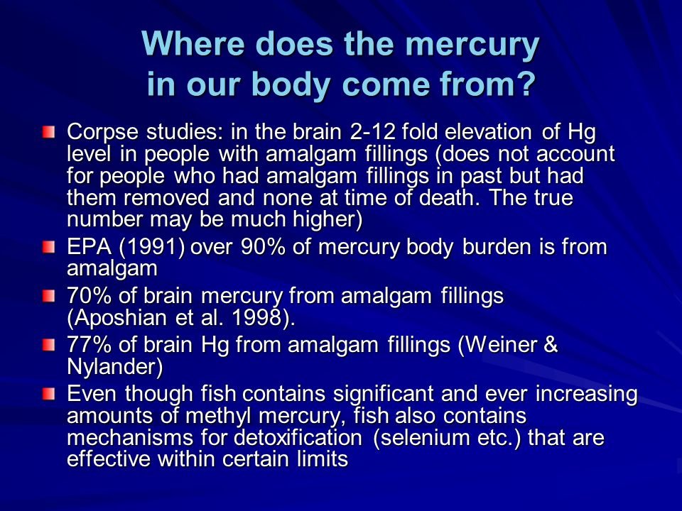 Where does the mercury in our body come from