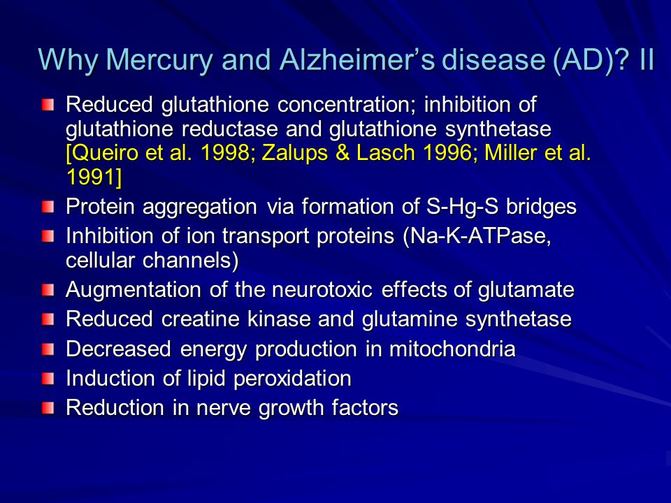 Why Mercury and Alzheimer's disease (AD) II