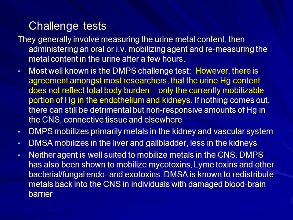 Challenge tests