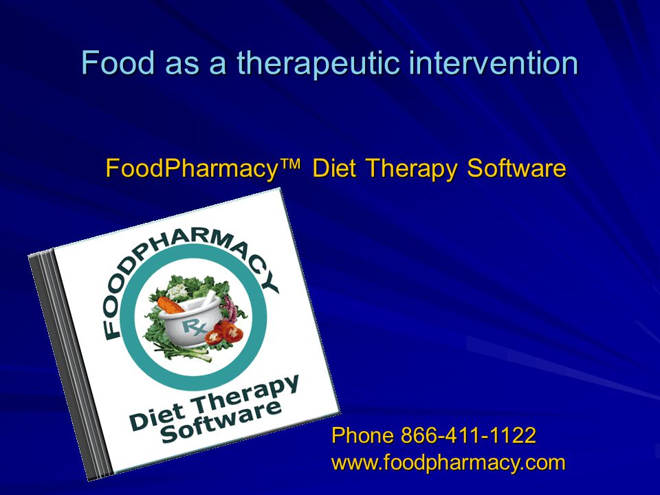 Food as a therapeutic intervention