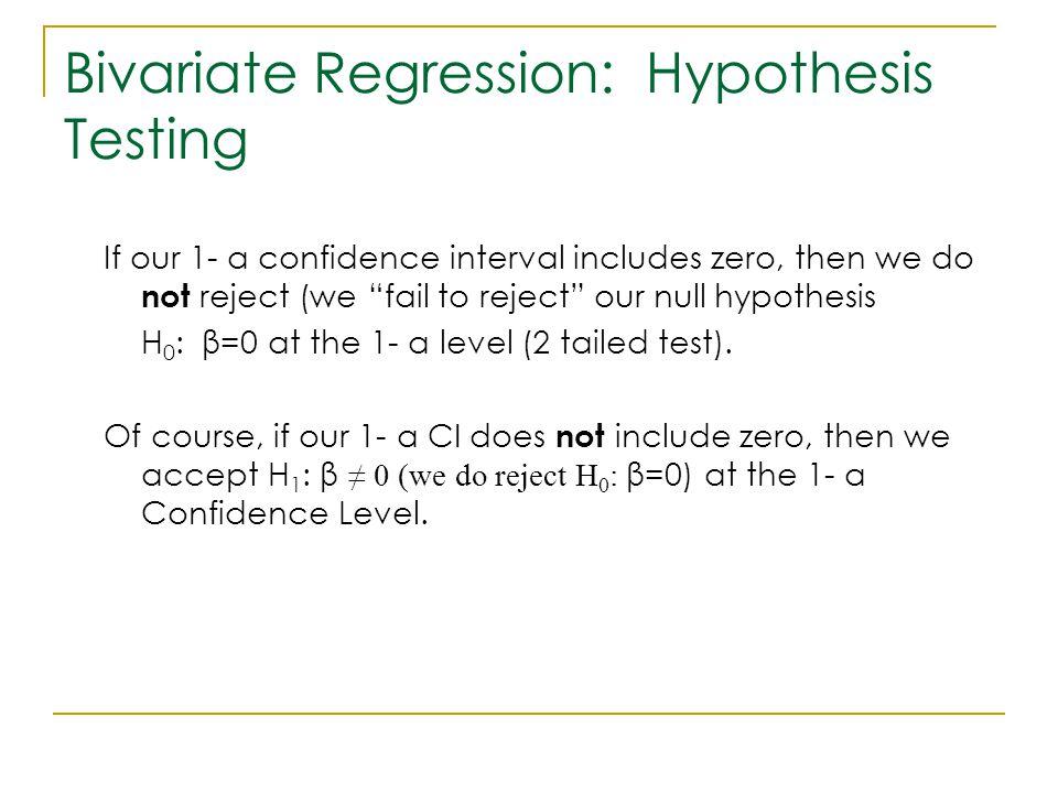 Bivariate Regression: Hypothesis Testing