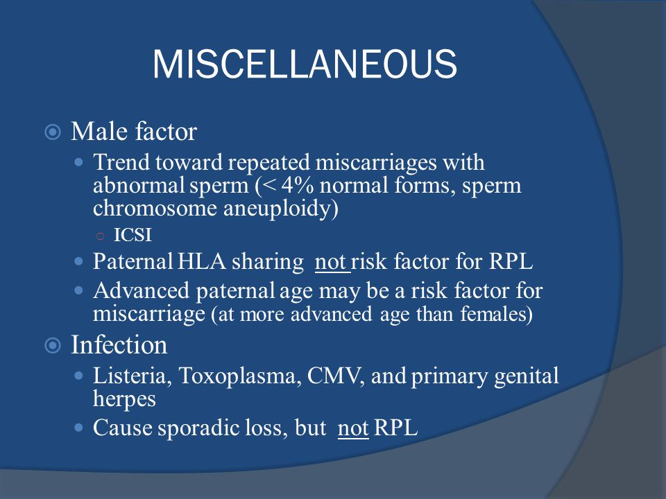 MISCELLANEOUS Male factor Infection