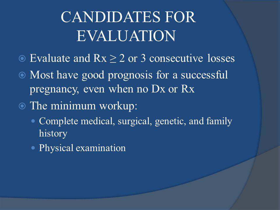 CANDIDATES FOR EVALUATION