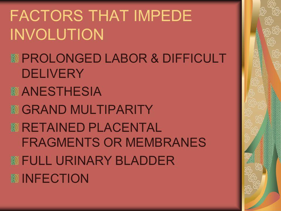 FACTORS THAT IMPEDE INVOLUTION