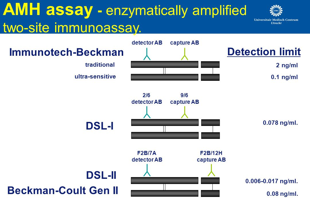 AMH assay - enzymatically amplified two-site immunoassay.