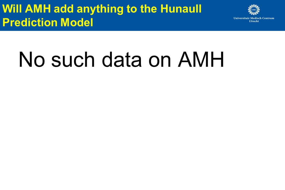 Will AMH add anything to the Hunaull Prediction Model
