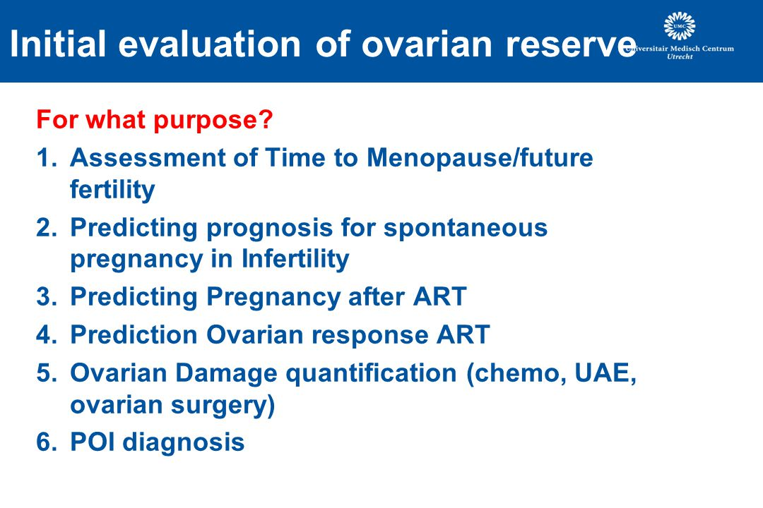 Initial evaluation of ovarian reserve