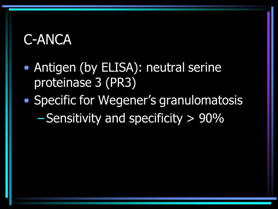 C-ANCA Antigen (by ELISA): neutral serine proteinase 3 (PR3)