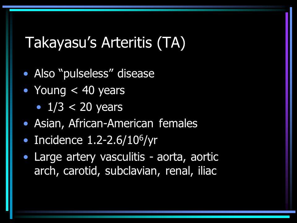 Takayasu's Arteritis (TA)