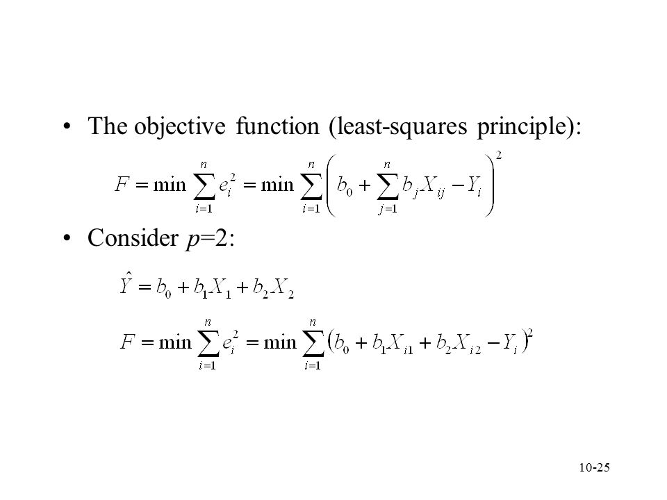 The objective function (least-squares principle):