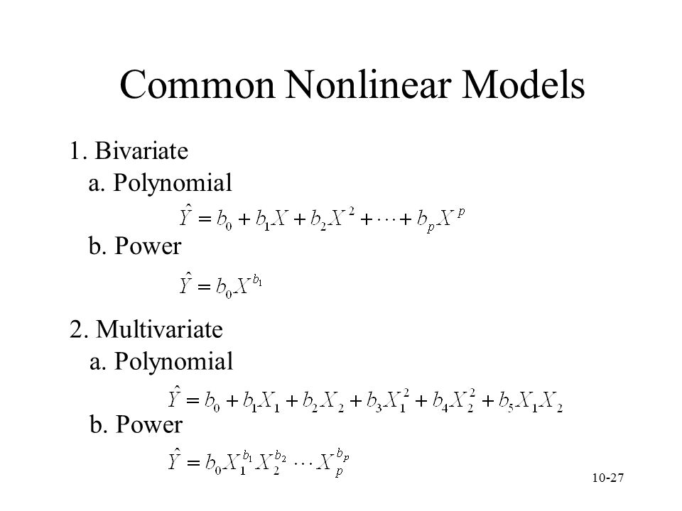 Common Nonlinear Models