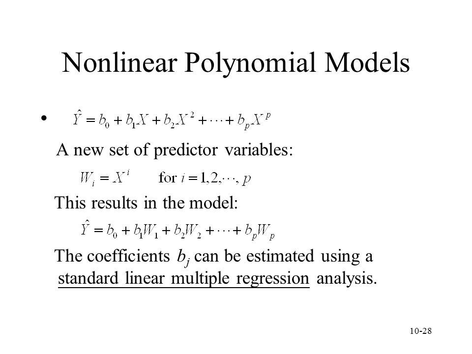 Nonlinear Polynomial Models