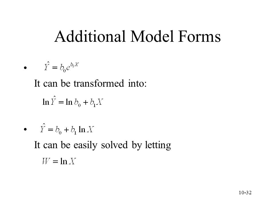 Additional Model Forms