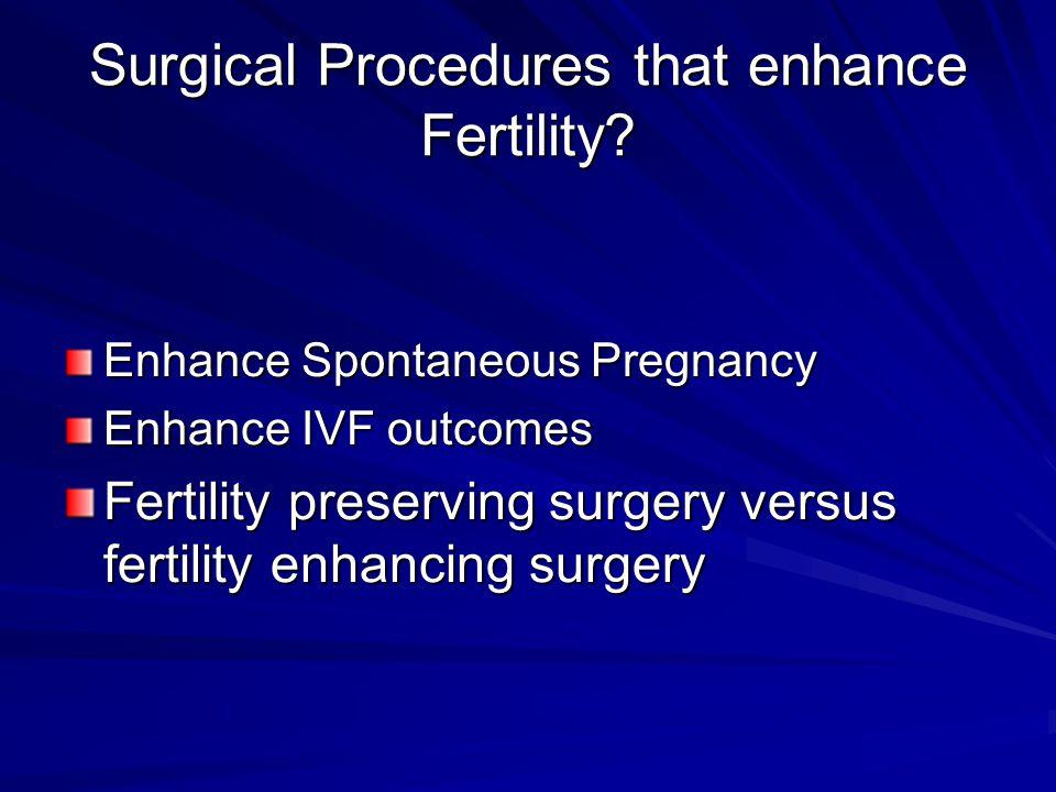 Surgical Procedures that enhance Fertility