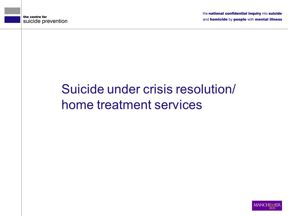 Suicide under crisis resolution/