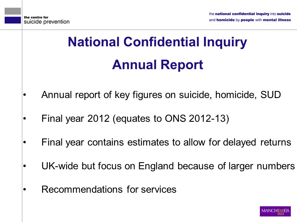 National Confidential Inquiry