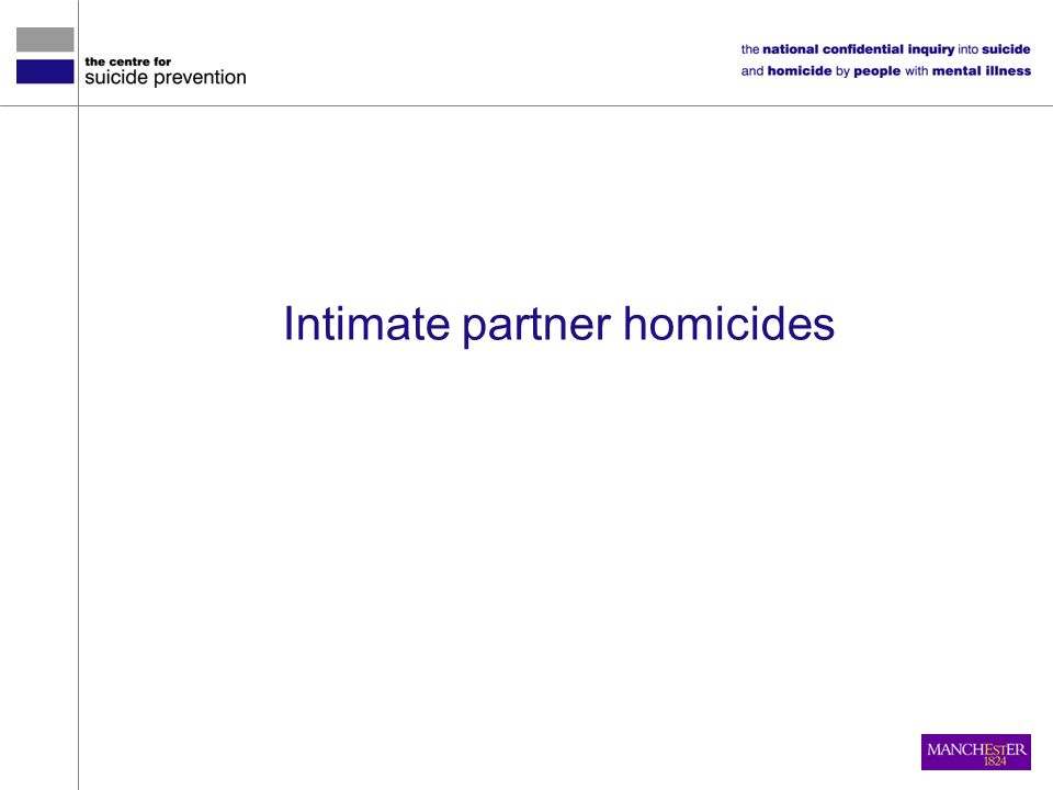 Intimate partner homicides