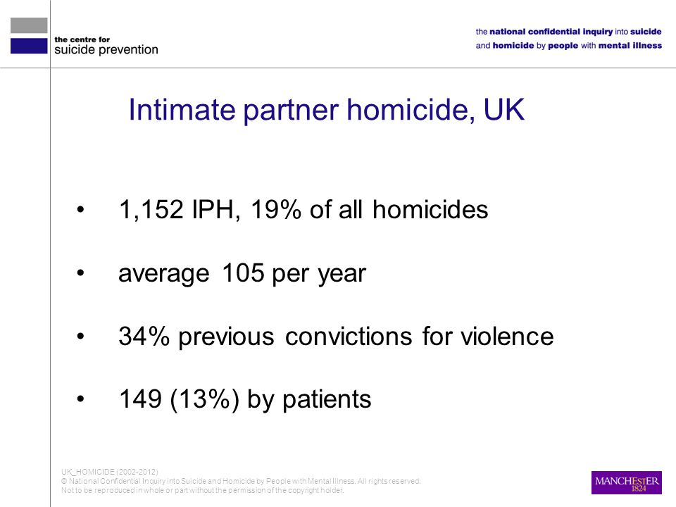 Intimate partner homicide, UK
