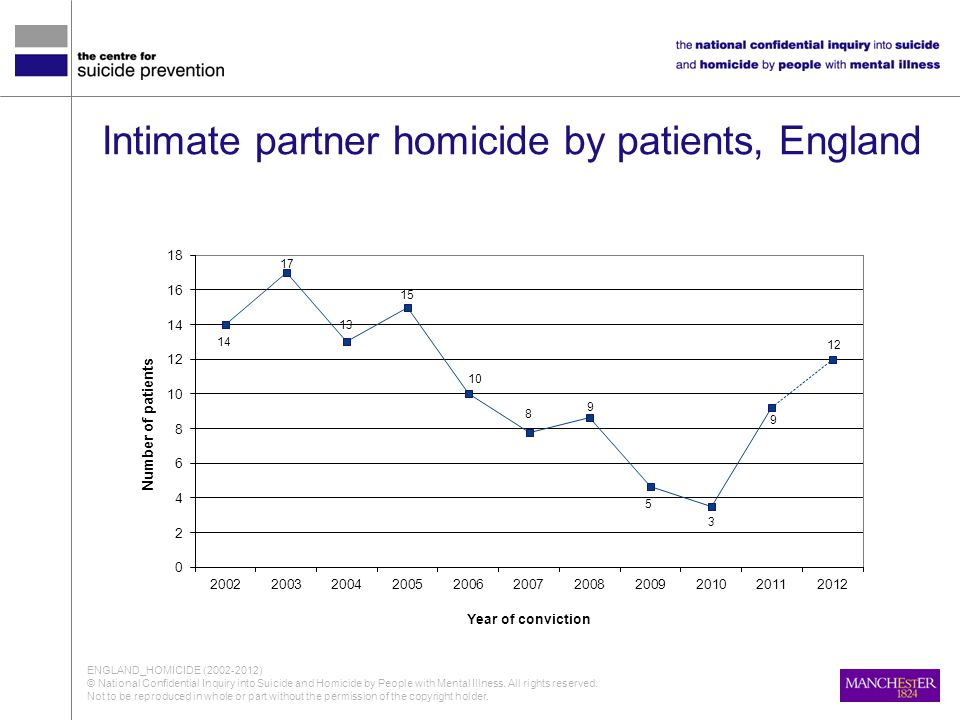 Intimate partner homicide by patients, England