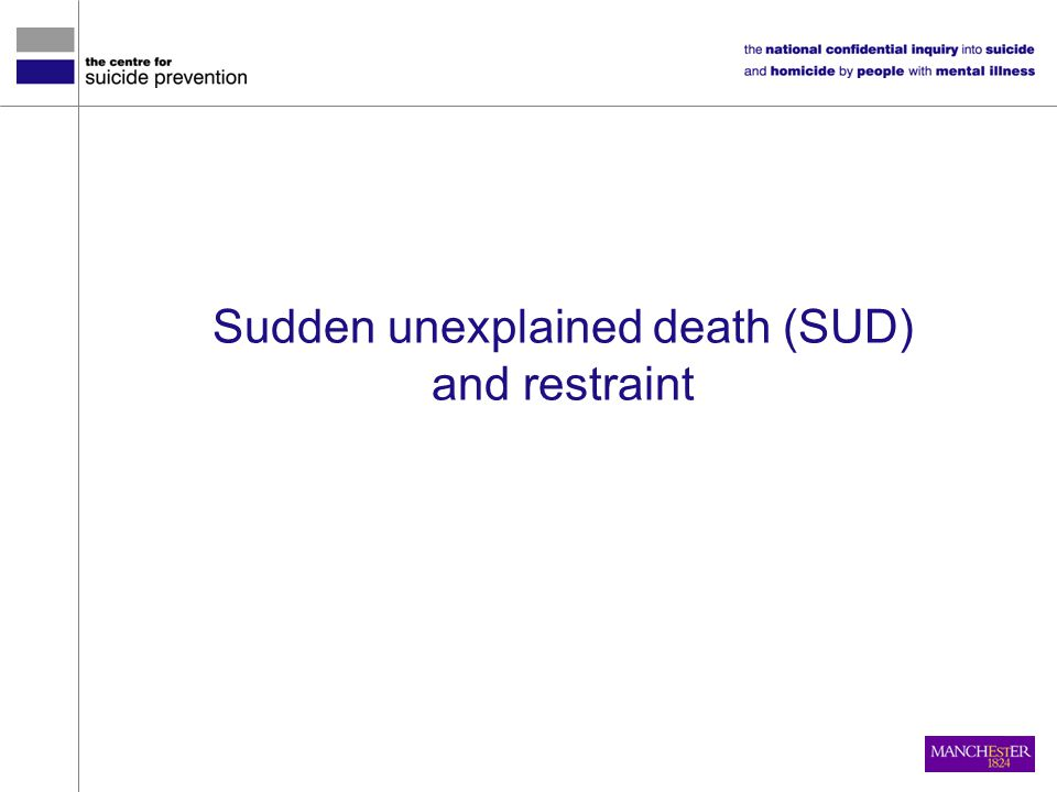 Sudden unexplained death (SUD)