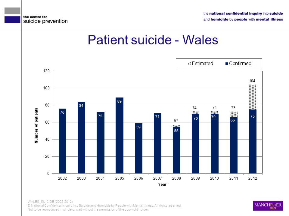 Patient suicide - Wales