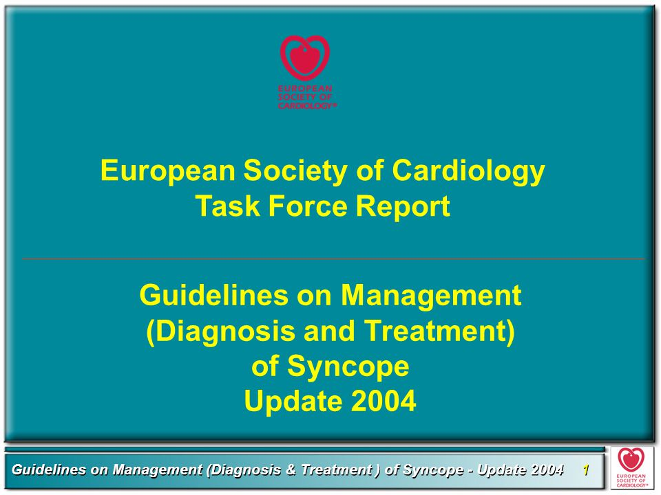 European Society of Cardiology Task Force Report