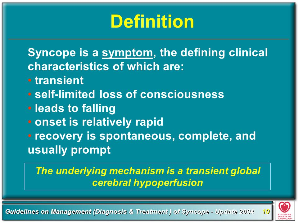The underlying mechanism is a transient global cerebral hypoperfusion