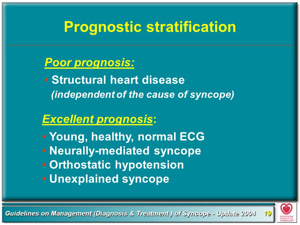 Prognostic stratification