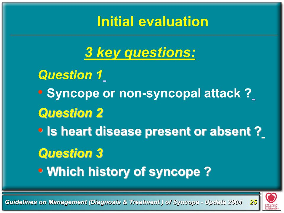 Initial evaluation 3 key questions: Question 1