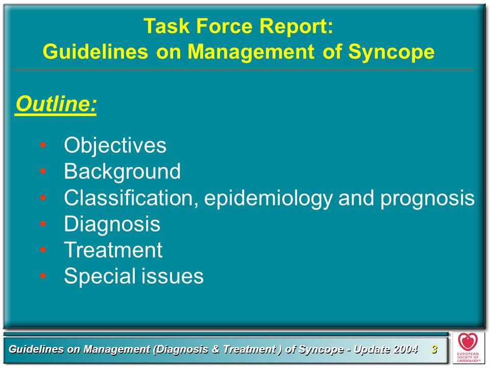 Guidelines on Management of Syncope