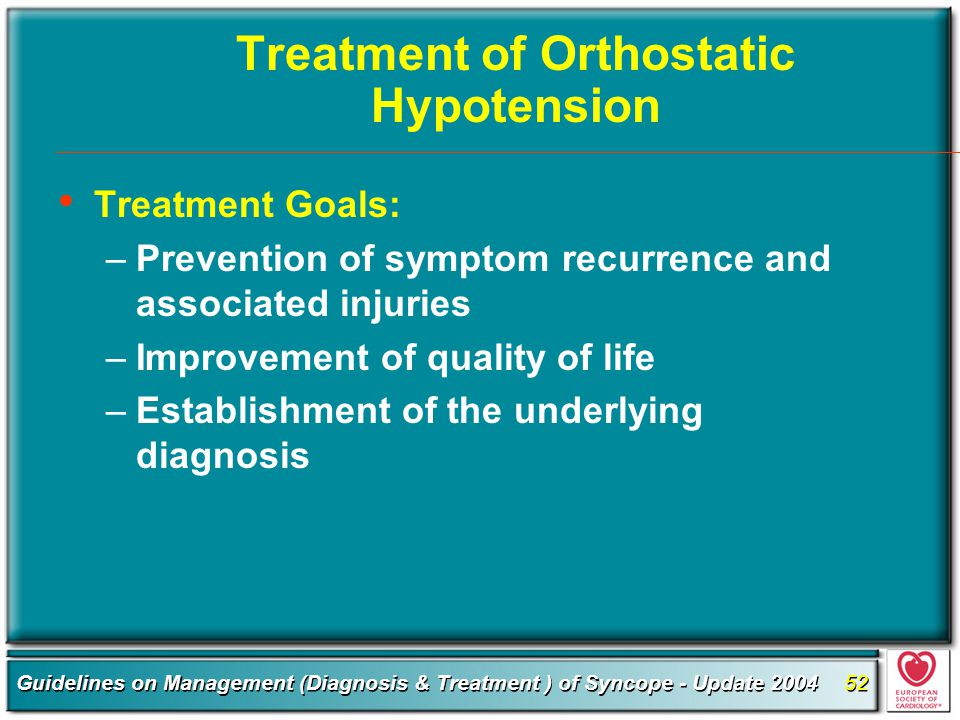 Treatment of Orthostatic Hypotension
