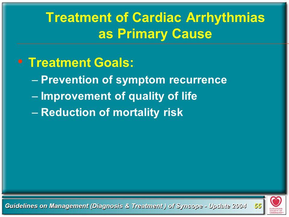 Treatment of Cardiac Arrhythmias as Primary Cause