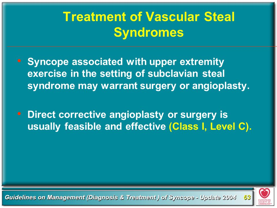 Treatment of Vascular Steal Syndromes