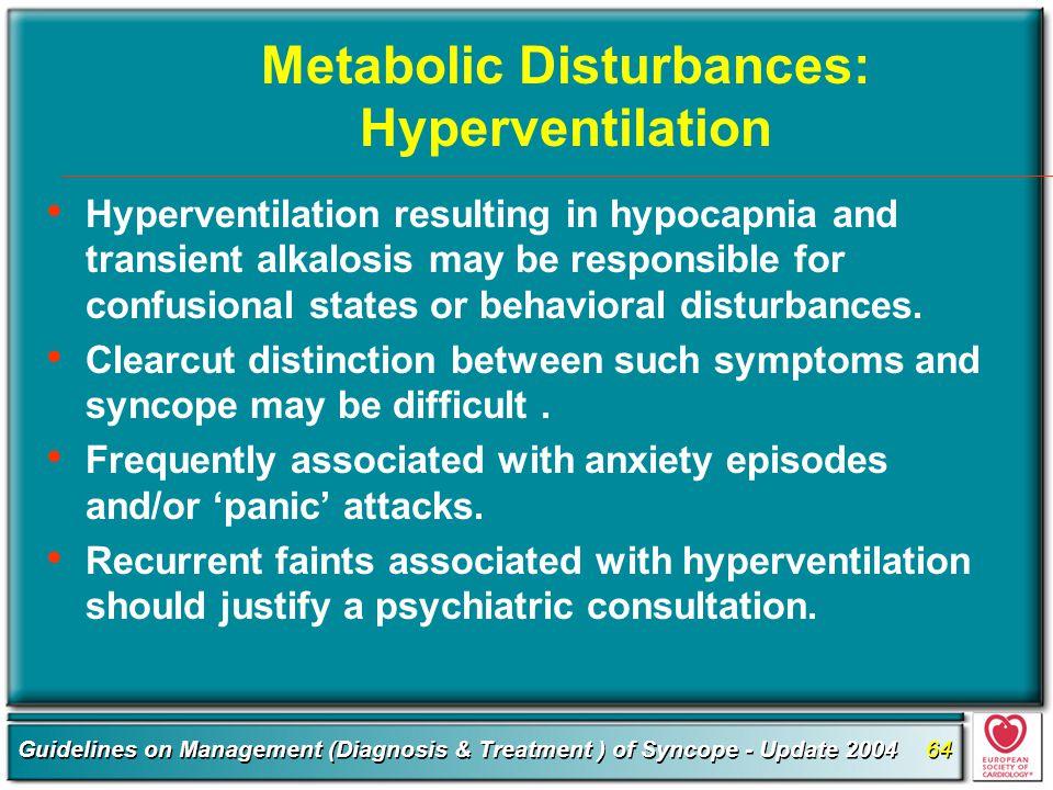 Metabolic Disturbances: Hyperventilation