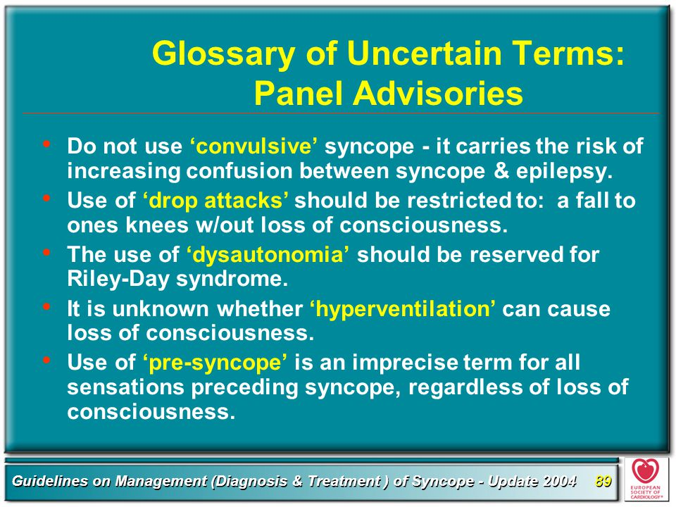 Glossary of Uncertain Terms: Panel Advisories