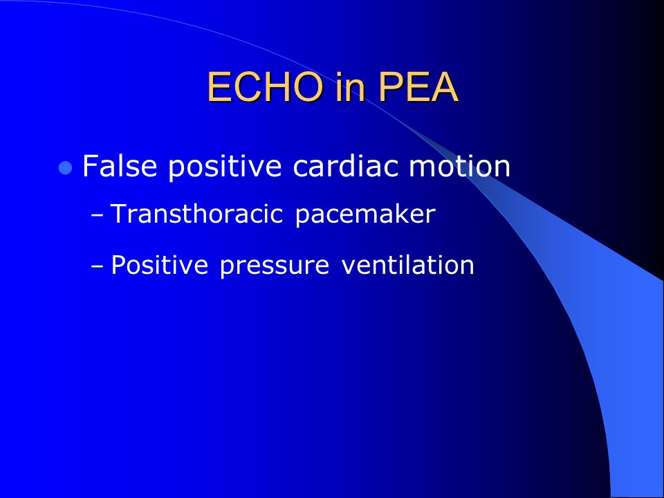 ECHO in PEA False positive cardiac motion Transthoracic pacemaker
