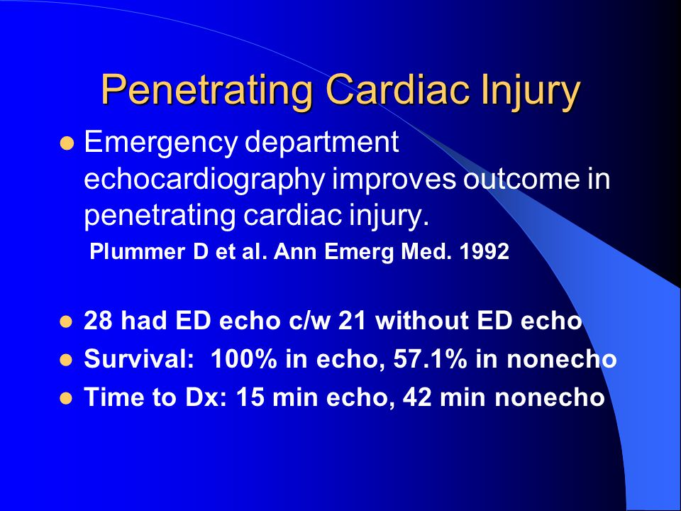 Penetrating Cardiac Injury
